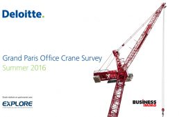 Grand Paris Office Crane Survey Summer 2016 : concentration de la production sur Paris